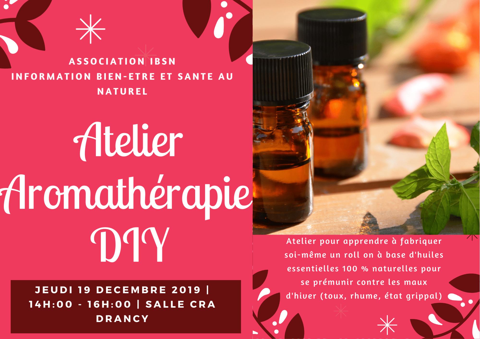 Atelier Aromathérapie – 19 Décembre 2019