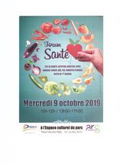 Forum Santé 2019 Drancy (93) – 9 Octobre 2019